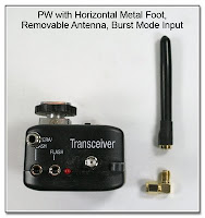 PJ1045: PW with Horizontal Metal Foot, Removable Antenna, and Burst Mode Input
