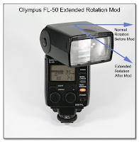 AS1031: Olympus FL-50 Extended Clockwise Rotation Mod