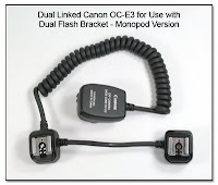 OC1042 (DF1007): Dual Linked OC-E3 Off Camera Cord - Straight Section Between Flash Ends