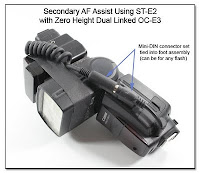 DF1010: Secondary AF Assist Unit Using ST-E2 with Zero Height Dual Linked OC-E3