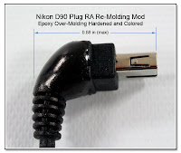 CP1062: Nikon D90 Plug RA Re-Molding Mod (0.88 inch maximum length)