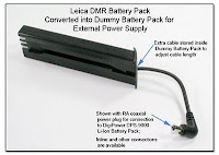 SC1061: Leica DMR Battery Pack Converted into Dummy Battery Pack for External Battery Supply