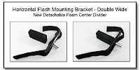 PJ1011A: Horizontal Flash Mounting Bracket (HFMB) Double Wide Version with New Detachable Foam Center Divider
