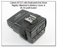 OC1050: Canon ST-E2 w/ Dedicated Hot Shoe Rigidly Attached to Battery Cover & IR Shutoff Switch