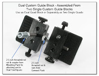 CP1033b: Dual Custom Guide Block - Assembled from Two Single Guide Blocks