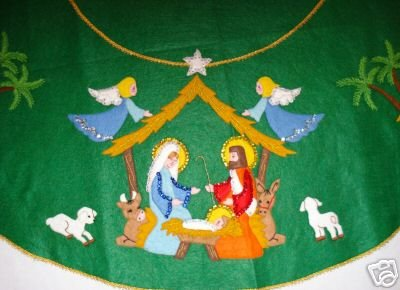 Tree Skirt Nativity