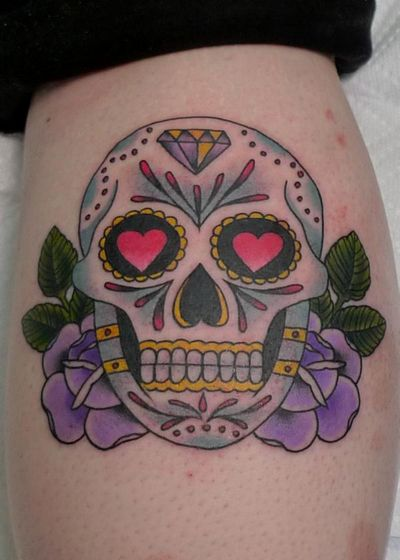Tribal Skull Tattoo - Sugar Tribal Skull Tattoo
