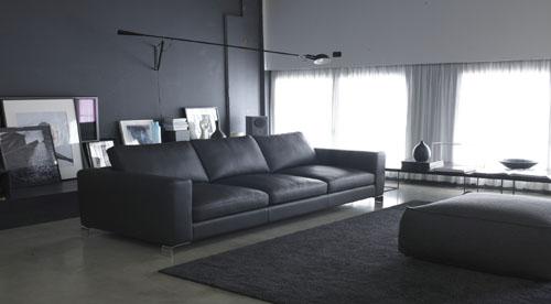 Nuovo divano moderno in pelle in arrivo divano winter tino mariani - Divano in pelle moderno ...