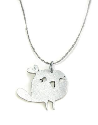 Handmade bird pendant by surf jewels handmade jewellery - charm, cute, ethical, saw pierced