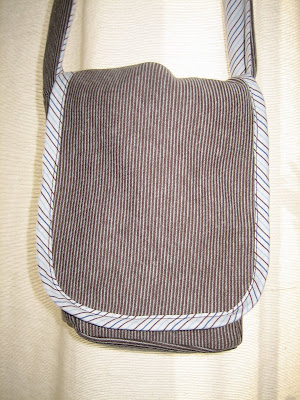Handmade bag by Surf Jewels Handmade Jewellery - bag, sewing, pattern, hand crafted, sewn, thread, stripe, recycled, reused