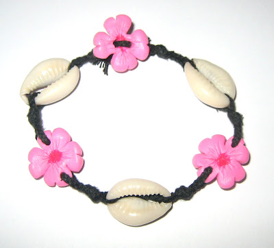 flower and cowrie bracelet