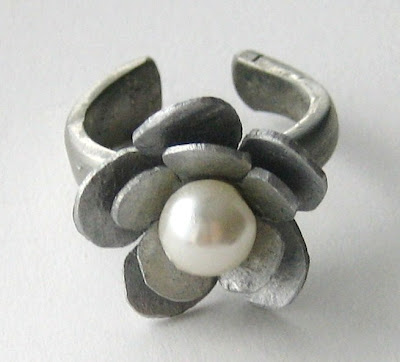 pretty silver ring by surf jewels handmade jewellery