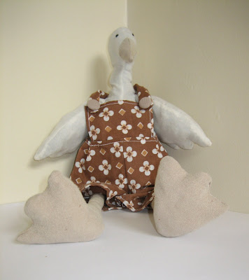 handmade goose - handmade, sewn, goose, soft toy, toy, recycled, fabric, material