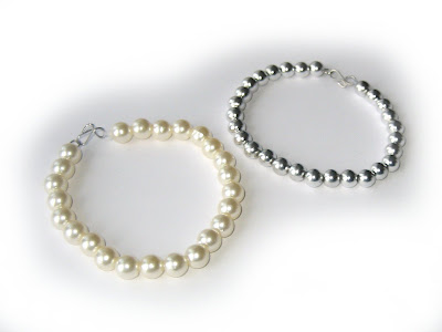 handmade, bracelet, jewellery, pearls, silver, beads, surf jewels