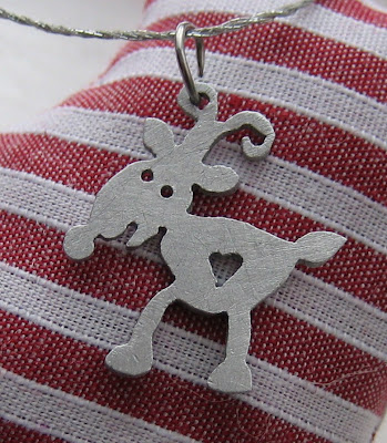 handmade, pendant, reindeer, christmas, jewellery, necklace, presant, pressie, gift, xmas, snow, rudolf, red nose, saw pierced