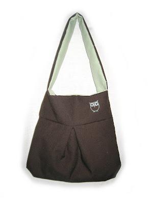 handmade, bag, owl, brown