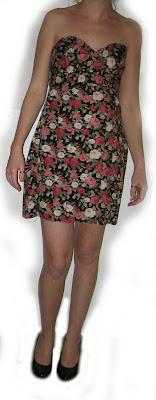 dress, evening, made, handmade, sewing, sewn, flower, cotton, sewing machine, zip,pattern