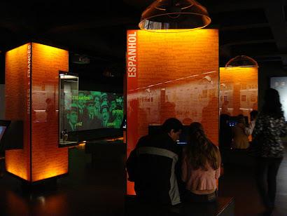 """Museu da língua portuguesa em São Paulo (Literatura é liberdade. """"Sentir o universo..."""" Sentir-se.)"""