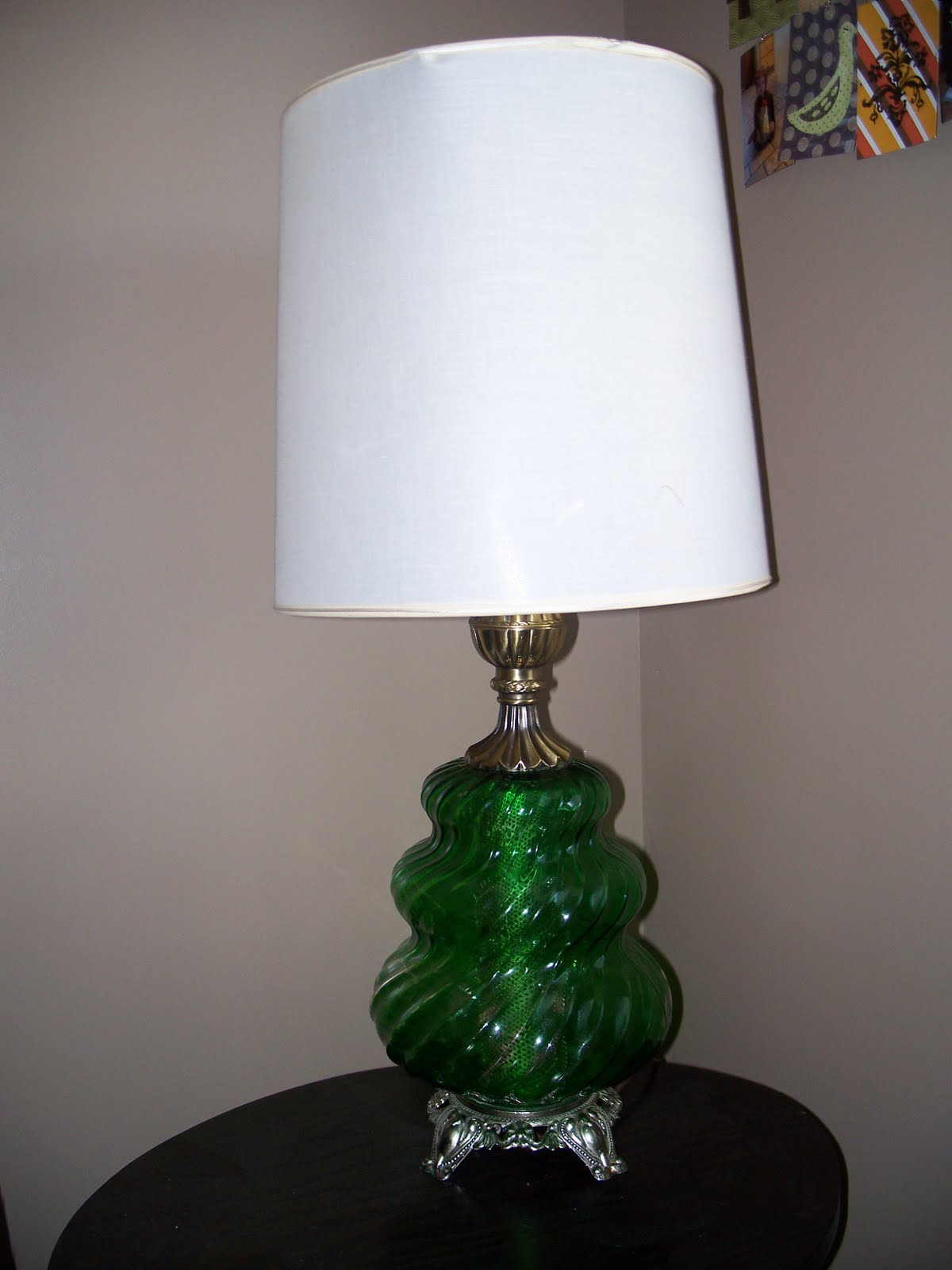 funky craft mama lamp shade redo