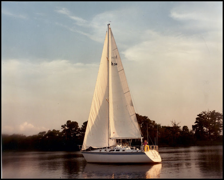 Susan sailing the RAMBLER