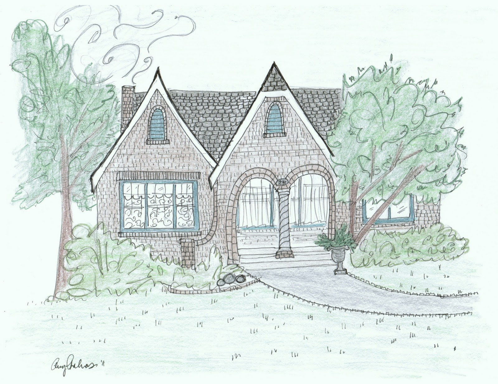 Maison Decor I 39 Ll Sketch Your House 400 Followers Giveaway