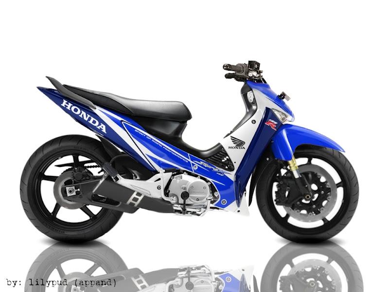 suprax 125 Modifikasi Motor Honda Supra X 125 Standard Road Race 2011 title=