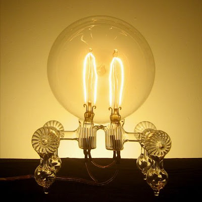 hand-blown light bulbs