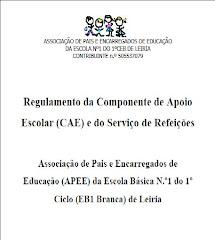 Regulamento CAE / Refeições