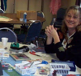 Me (Amy) at a stamp class