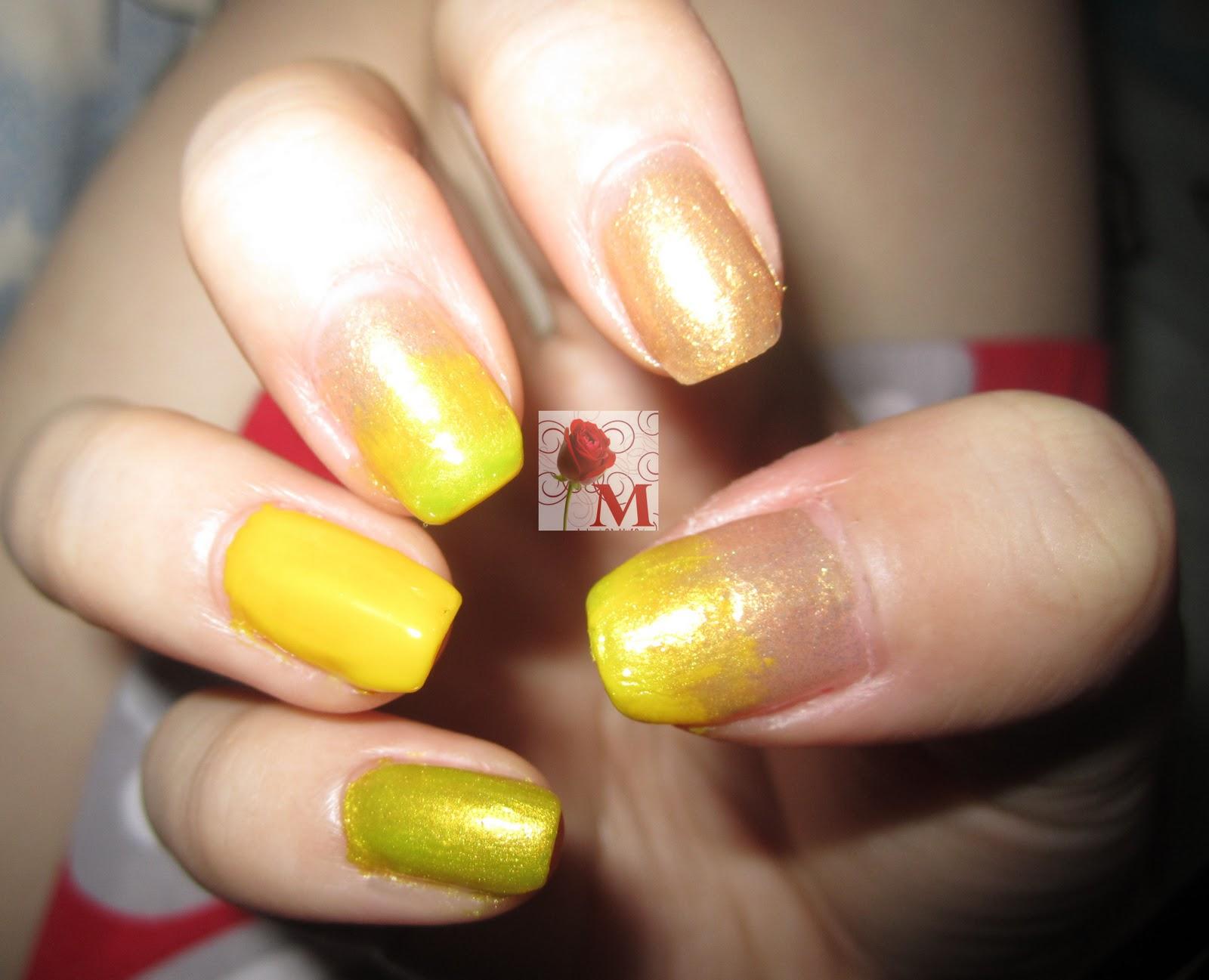 fading nail art