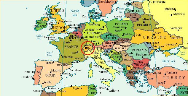 Map Of Europe Switzerland - Switzerland map