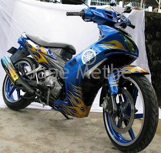 Jupiter MX Airbrush Motif Api motor kontes yamah