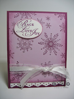 Stampin' Up! Serene Snowflakes Card