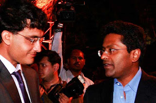 of Kolkata Knight Riders , Sourav Ganguly with Lalit Modi at the IPL