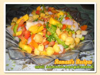 Cool Summer Mango Salad - Ramani's Recipes