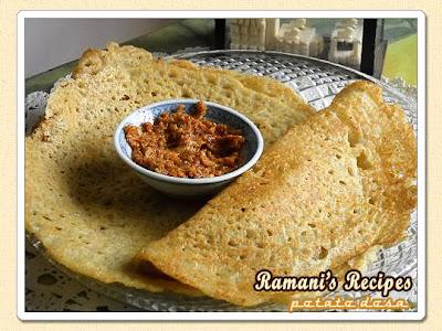 Potato Dosa @ Ramani's Recipes