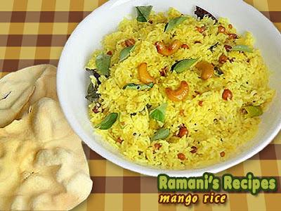 Mango Rice - Ramani's Recipes