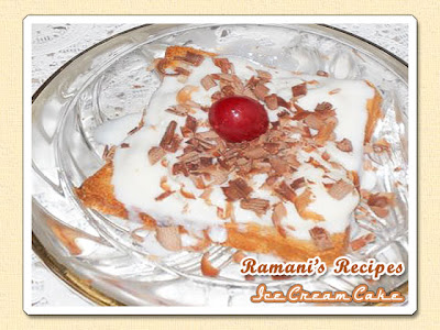 Ice Cream Cake - Be Great Chef series of recipes for kids at Ramani's Recipes
