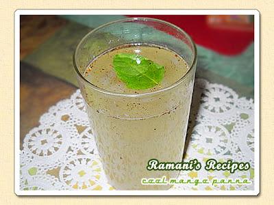 Cool Mango Panna - Ramani's Recipes
