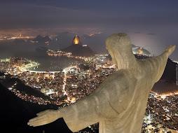 Vista noturna Cristo Redentor