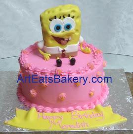 Handcrafted Sponge Bob birthday cake