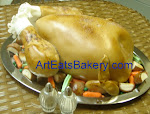 Thanksgiving turkey birthday cake