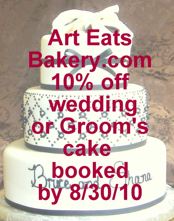 Cake Art Coupon : Art Eats Bakery custom fondant wedding and birthday cake ...