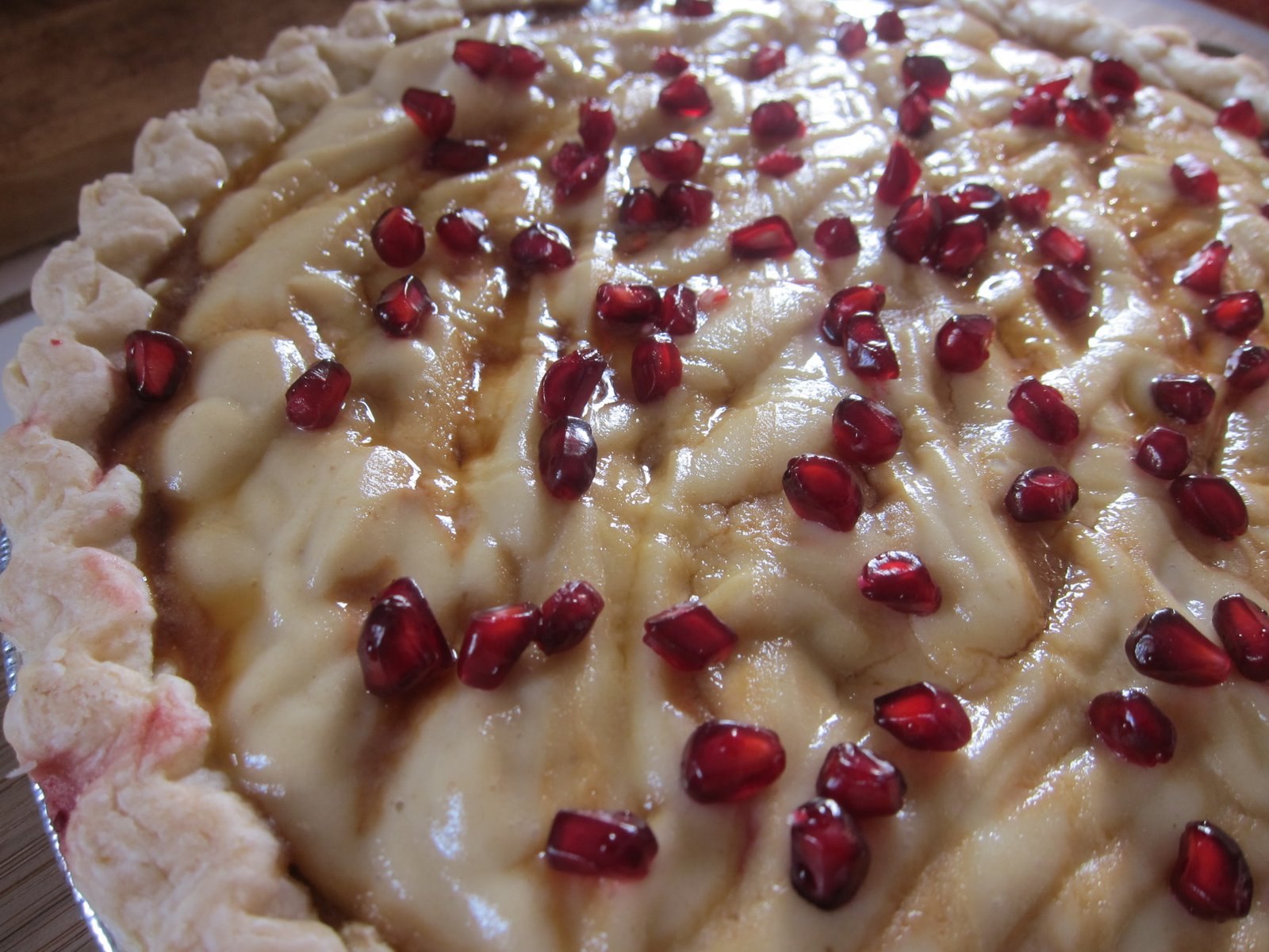 Spiced Pears And Pomegranate Recipe — Dishmaps