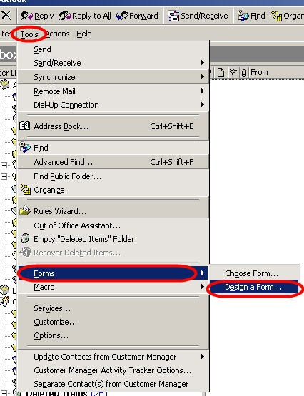 how to open an outlook template - qvlweb outlook forms 2 open form template