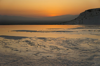 Evening glow, in a Pamukkale sunset