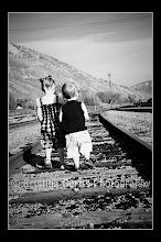 MAKAYLA AND BRODIE ON THE TRAIN TRACKS