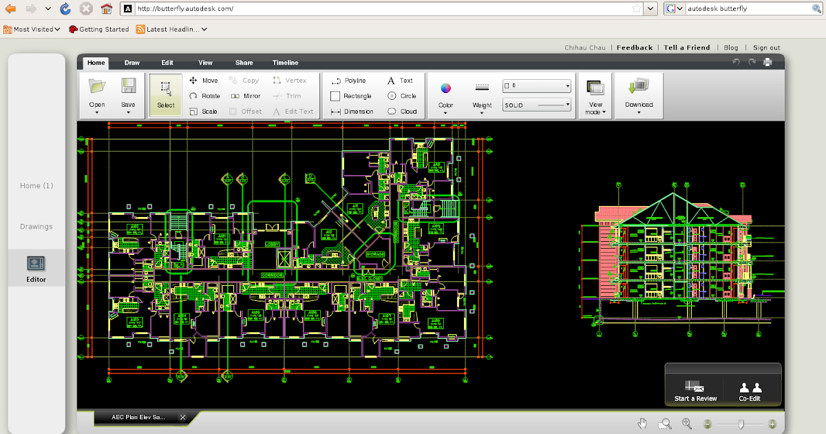 Autocad Online Proyecto Butterfly