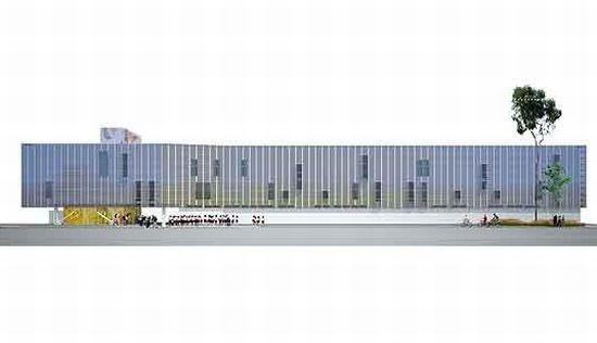 Arte elevaciones en arquitectura for Proyecto comedor universitario