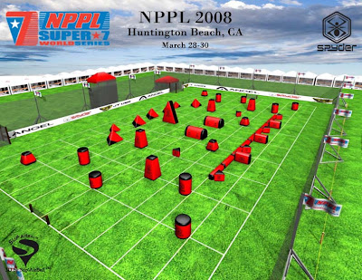 Paintball Field Layouts for Huntington Beach NPPL 2008